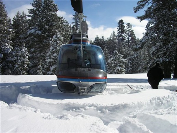 Helicopter Photo - fresh powder landing