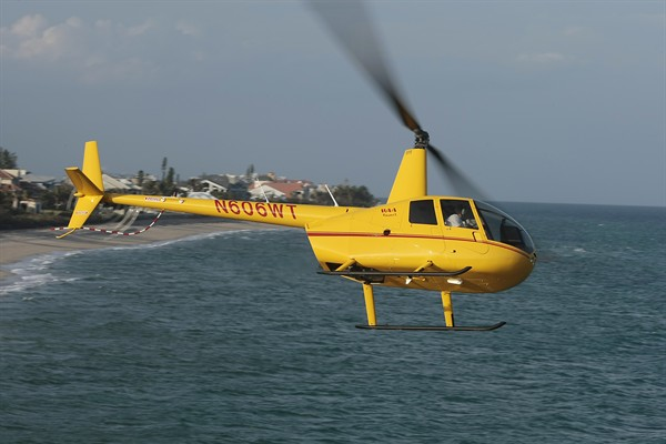 R44 IFR Trainer off Palm Beach.