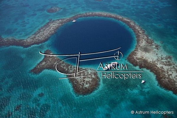 Helicopter Photo - Blue Hole