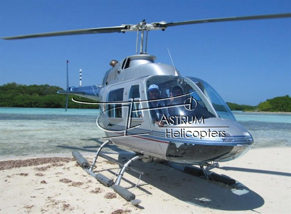 Helicopter Photo, Small Caye
