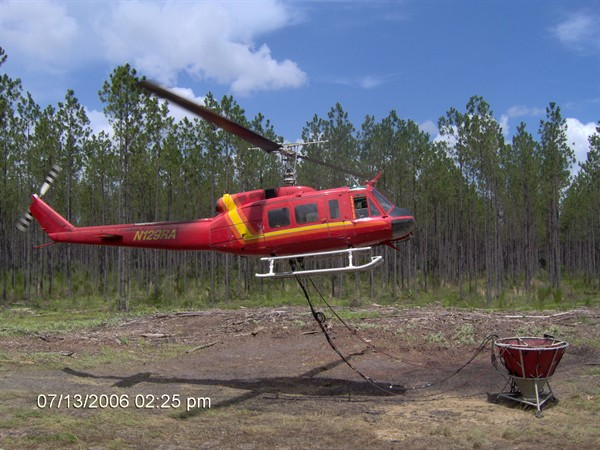 Helicopter Photo, Fertilizing UH1-H
