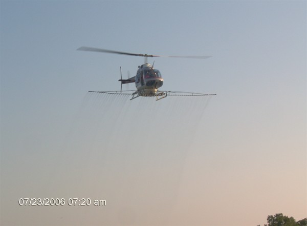 Helicopter Photo, Timber Spraying
