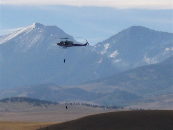 Helicopter Photo, Montana Heli Repelling